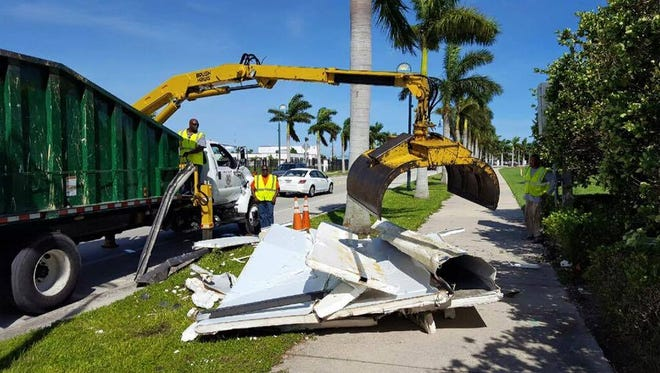 Fort Pierce is making a concerted effort to pick up debris from Hurricane Matthew.