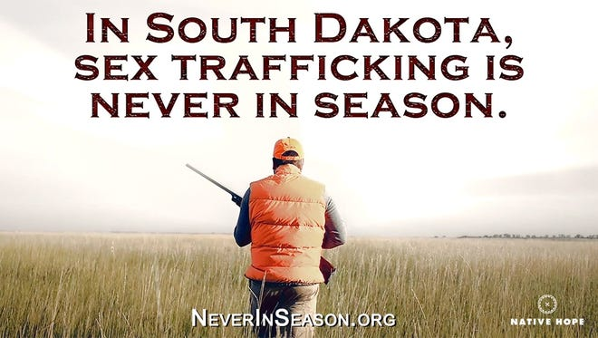 """Native Hope, a human trafficking awareness and prevention organization, is running a campaign called """"Never in Season"""" to raise awareness about increased trafficking activity during hunting season."""
