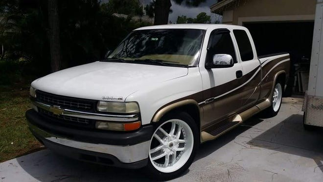 Keys to a truck were found in one burglarized vehicle and the truck was then stolen.