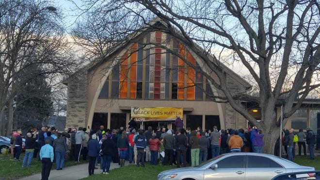 A banner showing support for the Black Lives Matter movement was reported stolen Thursday from Unitarian Universalist Church of Tippecanoe County.