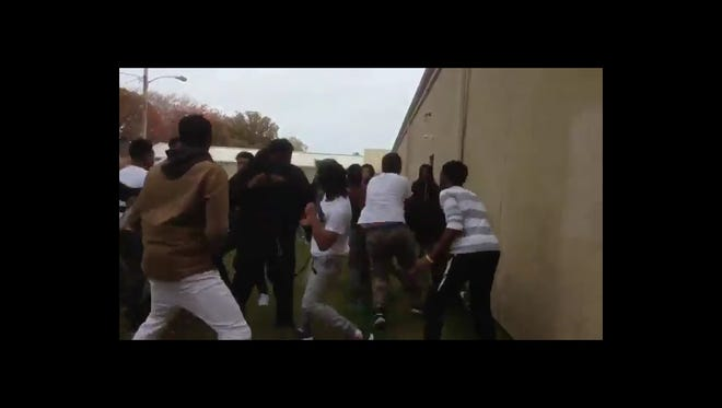 A Twitter account opened in September 2016 shows numerous fight videos of purported Neptune High School students.