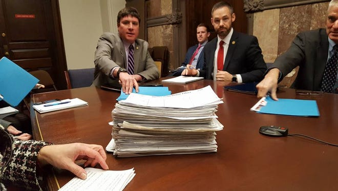 The North Rockland Debt Relief Committee's petition, which received more than 10,000 signatures, was presented to representatives of Gov. Andrew Cuomo's office on Oct. 25.