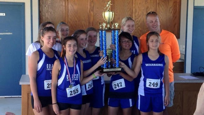 Grace Christian's girls cross country team recently won the VACA state championship, the first for the school.