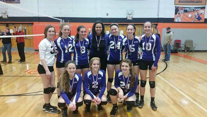 The Biltmore Volleyball Academy 16 Elite team.