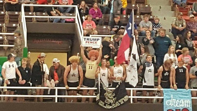 Archer City High School fans chanted slogans at largely Hispanic volleyball opponents this past Friday