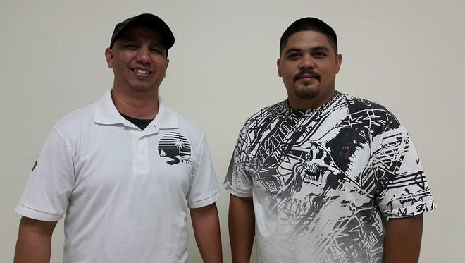 Ricky Duenas, left, and Cliff Palomo won the November King of the Lanes and Prince of the Lanes titlesm, respectivelty, on Sunday.