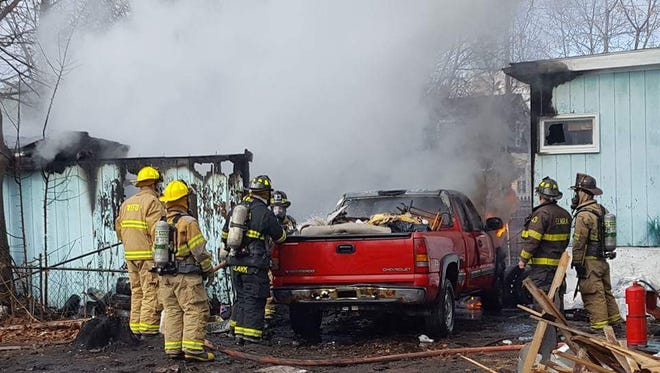 Firefighters of the Local 709 in Elmira responded to the fire.