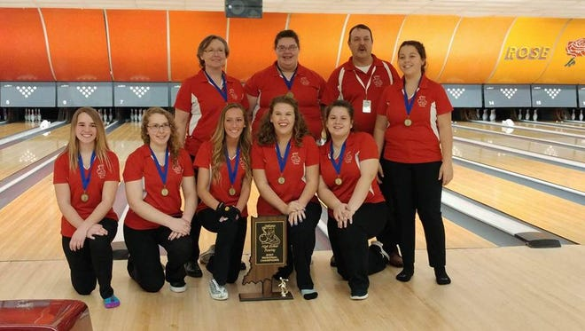 Richmond's girls bowling team won a regional title at New Castle last Saturday.