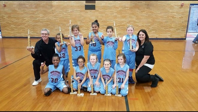 The Union County Instructional league girls won first place in the Madisonville Tournament this weekend.