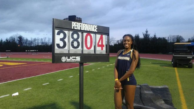 Roberson senior Michelle Cobb set a meet record in the girls triple jump Friday at the Tri-Cities Classic in Johnson City, Tenn.
