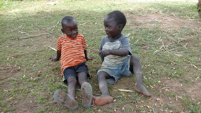 Children play in the town of Nakasongola on February 22, 2017. Children here continue to live in constant fear of being kidnapped and sacrificed.