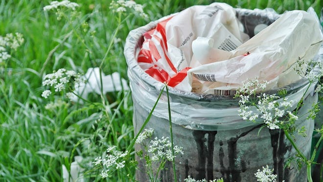Secure all of your garbage and recycling containers before the storm arrives.