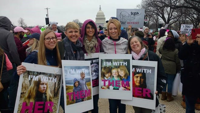 Fran McCarthy Reed, Christy Lesher, Julie Johnson, Nicole Johnson, and Elizabeth Brady