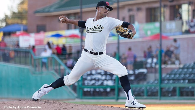Visalia Rawhide right-handed pitcher Jon Duplantier was named on Thursday as the MLB Pipeline Pitcher of the Year