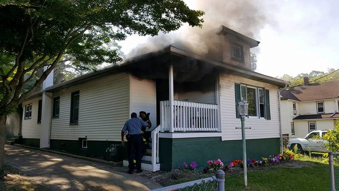 Asbury Park firefighters responded to a report of a fire Wednesday, Aug. 10, on the 800 block of Prospect Avenue.