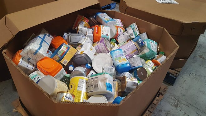 Food Bank collects food and personal items for those affected by Hurricane.