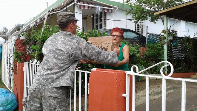 More than 120 N.C. Guard soldiers with Task Force Rhino have been in Puerto Rico for more than two weeks supporting recovery efforts, mostly in the town of Salinas.