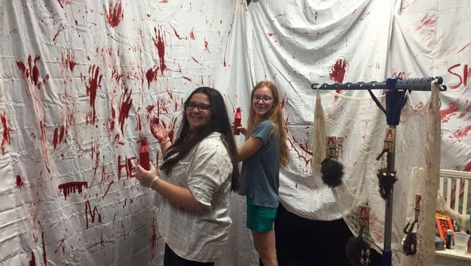 These local students work on last year's Haunted Lodge, an annual presentation by the Jupiter Elks. This year's fundraiser will take place from 7 to 10 p.m., Oct. 27 and 28.
