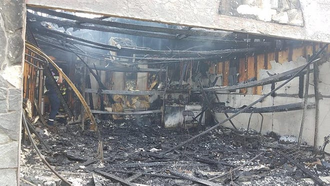 A home in the 3000 block of Southeast Wake Road was engulfed in an early-morning blaze.