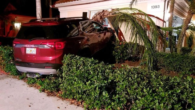 Martin County deputies responded to 15 crashes in four hours, including this one where a SUV crashed into a house.