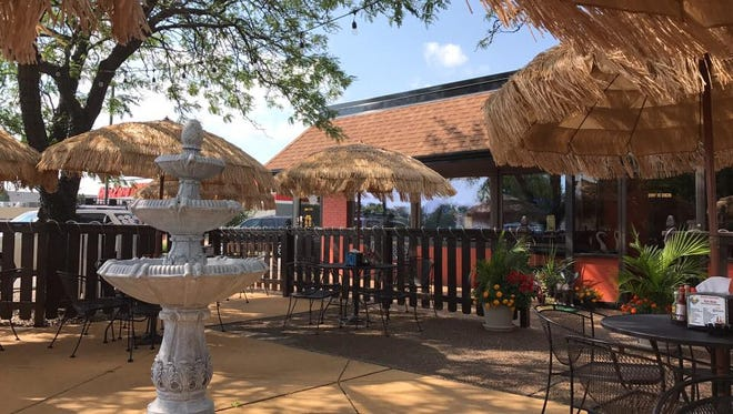The patio at Riviera Maya Mexican Bar and Grill.