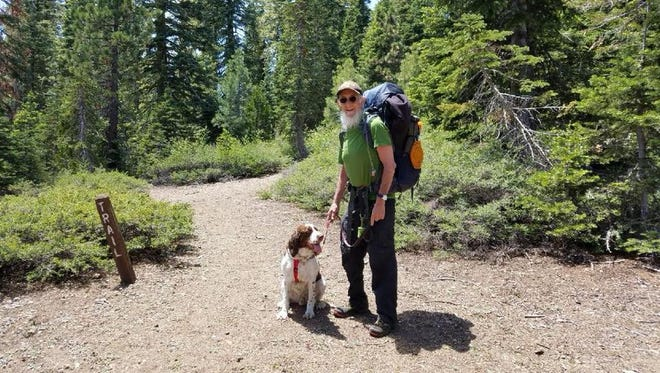 David Ura, 64, went missing on the Big Foot Trail in the Trinity National Forest on June 15. Deputies learned Friday from Ura's family that the man was found alive and safe with his dog near the Cold Springs area.