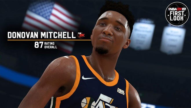 Donovan Mitchell, former Louisville Cardinal, got a fat 87 player rating for NBA 2K19.