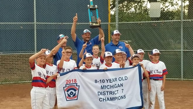 The St. Clair 10-and-under little league all-star team will travel to Bay City for the state finals.