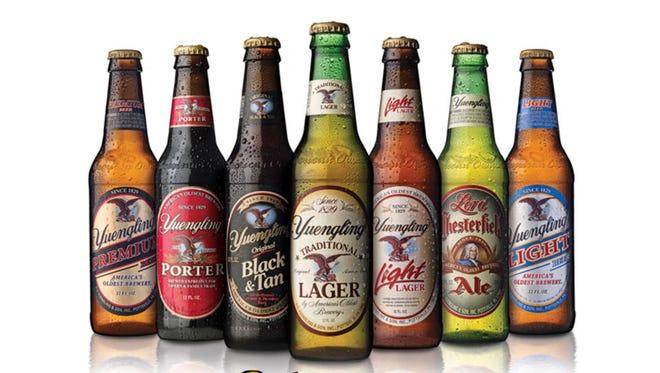 Yuengling beers.