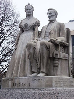 The Abraham and Mary Todd Lincoln statue is located at East Park, 1001 S. Main St. in Racine. When dedicated in 1943, it was the very first memorial to honor the Lincolns as a couple. The statue was a gift to the community by Lena Rosewall who left her entire estate (approximately $20,000) to create the memorial after she died in 1935.