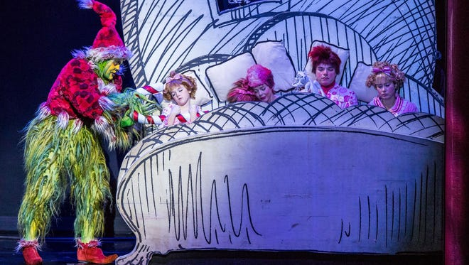 """""""Dr. Seuss' How the Grinch Stole Christmas! The Musical"""" comes to the Hulu Theater at Madison Square Garden from Dec. 13 to 30."""