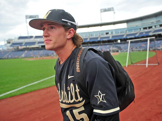 Vanderbilt pitcher Carson Fulmer, shown arriving for