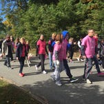 Hundreds gathered at James Baird State Park in pleasant Valley to participate in the 13th annual Hudson Valley Community Walk for Breast Cancer Sunday.