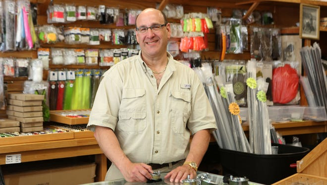 Skip Storch, owner of Shu-Fly Tackle & Fly Shop in Nanuet, is photographed June 1, 2016. Storch has been fishing in Rockland for 55 years.