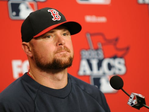 Jon Lester is 2-1 with a 2.33 ERA this postseason. / Tim Fuller, USA