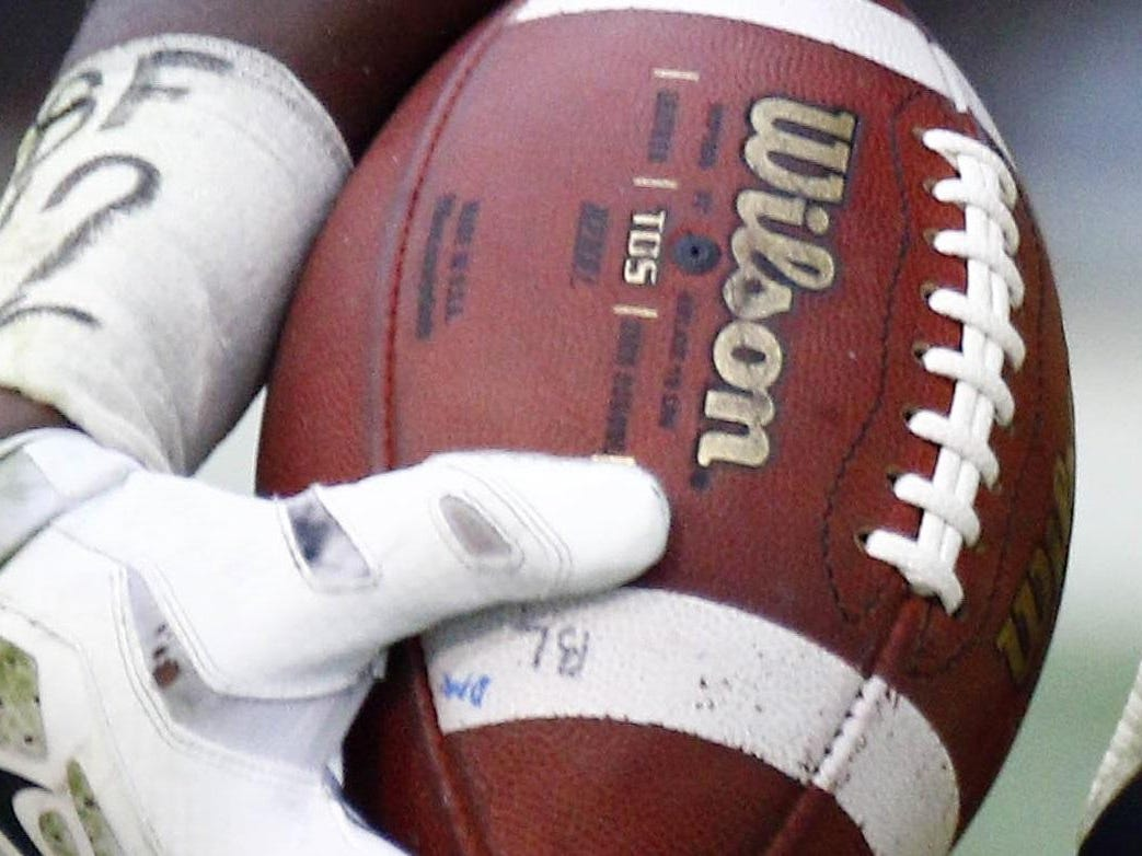 Columbus' Kylin Hill accounted for 5 TDs as the Falcons beat Olive Branch 46-20 on Friday.