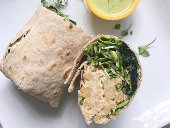 Chickpea and Sunflower Shoot Wrap from Cara Carin of