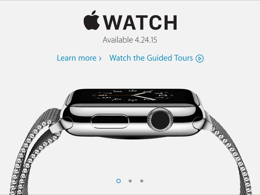 An image from the Apple Watch web site.