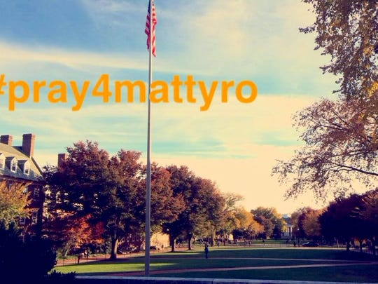 "Students used the hashtag ""#pray4mattyro"" as a way to garner support for their friend and loved on Matthew Rosin."