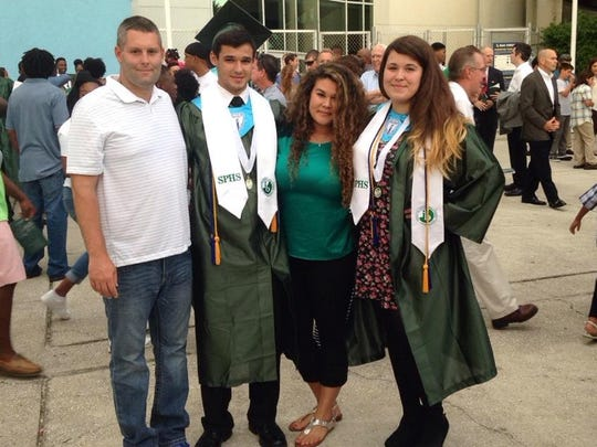 William Fowler, second from left, stands with his siblings. From left, Vincent, William, Brittany and his twin sister Havana.