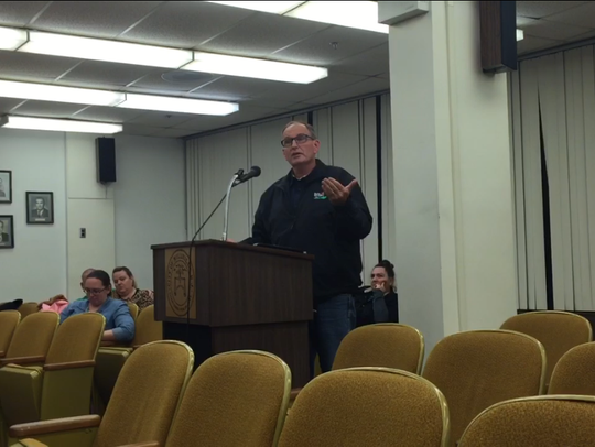 Jay Dilworth, owner of Trinity Code Inspections, addressed