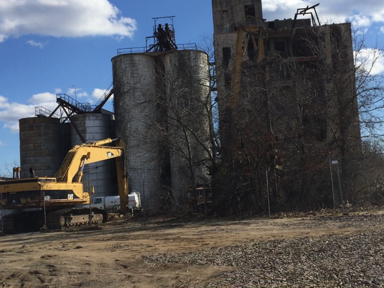 This old grain mill was built by U.S. Feed and Grain