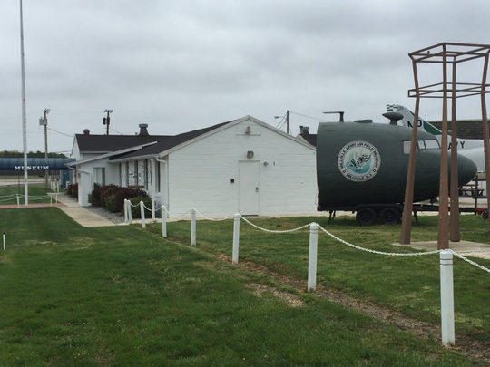Leddon Street in Millville Municipal Airport is the home of the Millville Army Air Field Museum. Its collection includes these items stored outside the museum proper.