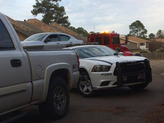 Wes Avent, a resident of Town and Country Townhomes in Ridgeland, could see the aftermath of the arrest from his garage.