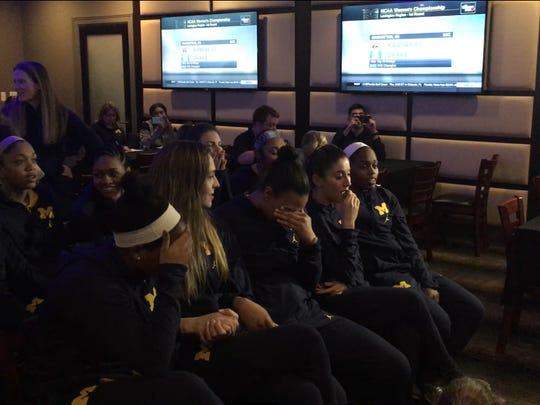 The Michigan women's basketball team feels disappointment