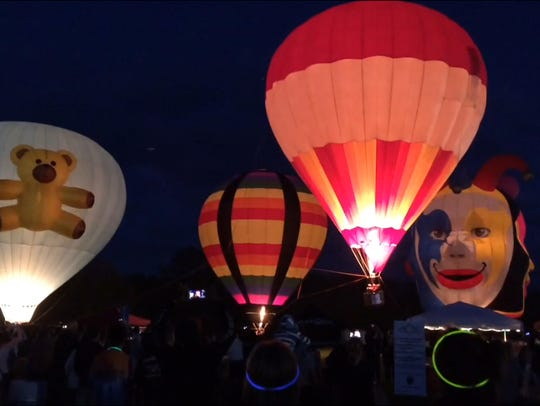 A scene from the balloon glow at 2016's Pork in the