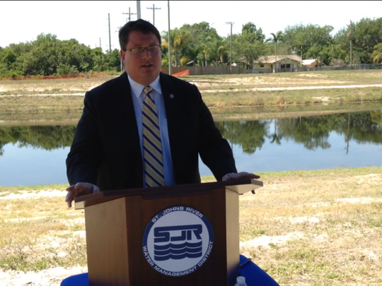 State Rep. Randy Fine speaks during a ceremony Thursday
