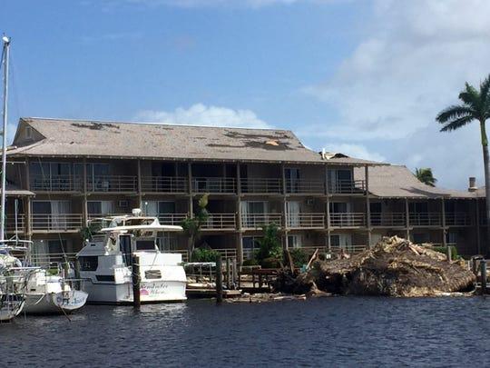 Cove Inn near The Dock restaurant on Wednesday, Sept. 13, 2017, after Hurricane Irma.