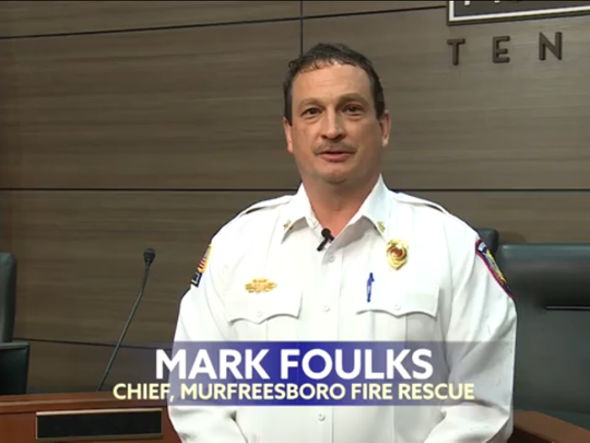Mark Foulks, Murfreesboro Fire and Rescue Department chief, appears in a new public service announcement video regarding a special census underway.
