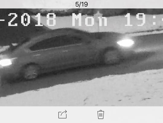 A surveillance image of a vehicle linked to an attempted